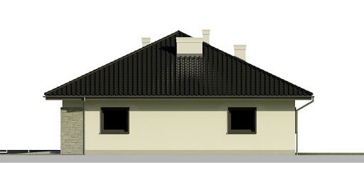 Dom przy Słonecznej 5 bis - Elewacja prawa