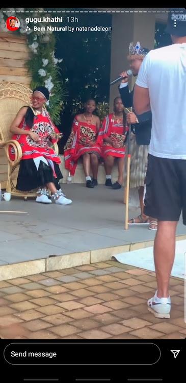 Inside Babes' and Mampintsha's wedding.
