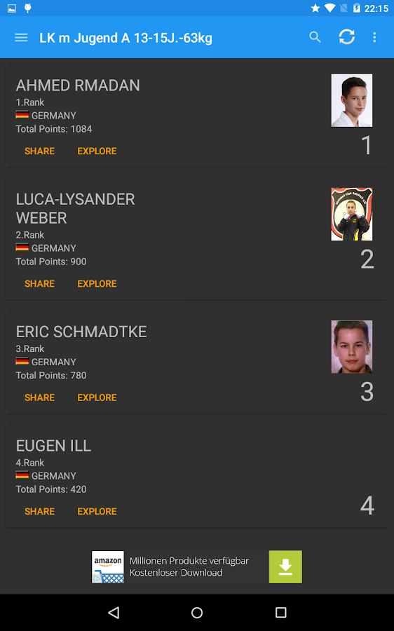 WAKO Deutschland Ranking- screenshot