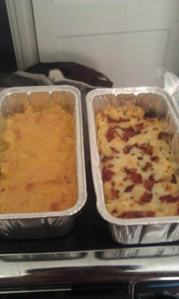 These Are Variations With Additional Ingredients. One Is Topped With Parmesan Cheese And Italian Seasoning And The Other With Bacon And Jack Cheese With No Cheddar.