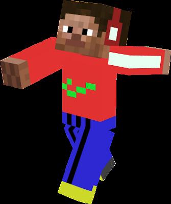 Oryginalny Steve z minecrafta w ubraniach adidasa i nike normalnie dres!!!