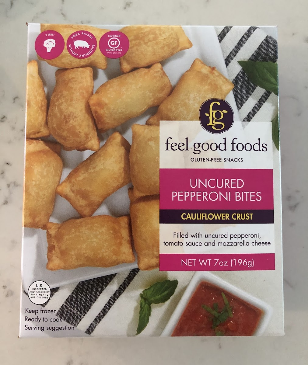 Uncured Pepperoni Bites, Cauliflower Crust