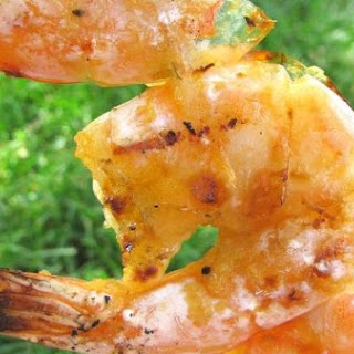 Grilled Shrimp In Garlic, Ginger, Lemongrass and Sweet Chili Sauce
