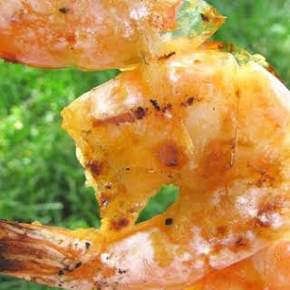 Grilled Shrimp In Garlic, Ginger, Lemongrass and Sweet Chili Sauce.