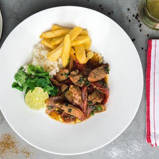 Peruvian-Style Pork Stir Fry.