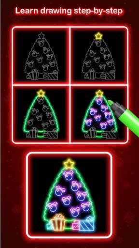 Draw Glow Christmas 2020 screenshots 2