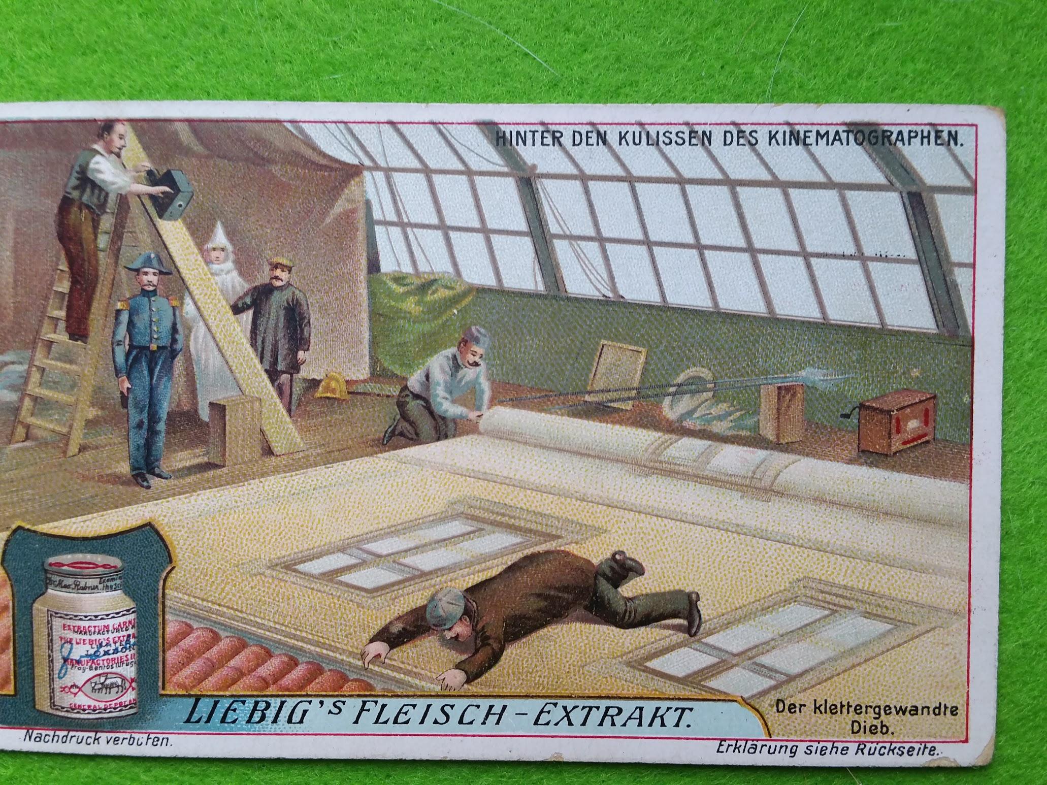 Liebig's Fleisch-Extrakt - Sammelbilder - Hinter den Kulissen des Kinematographen - 1913