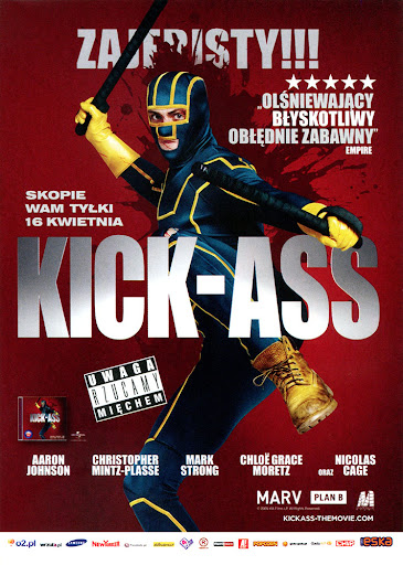 Przód ulotki filmu 'Kick-Ass'