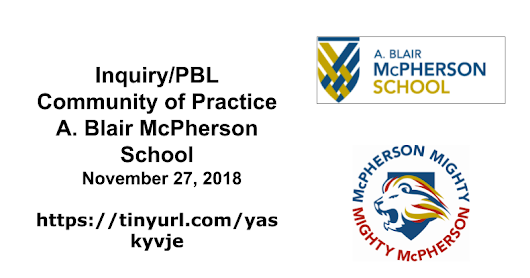 Inquiry/PBL Community of Practice 2018