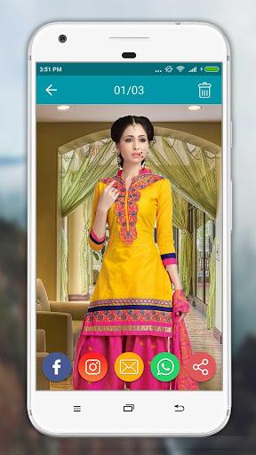 Women Salwar Suit Photo Editor screenshot 10
