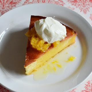 Vanilla Bean Buttermilk Cake with Glazed Oranges and Crème Fraîche