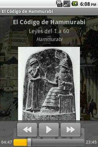 El Código de Hammurabi - screenshot