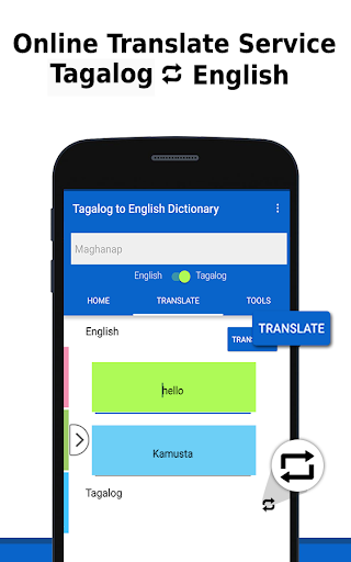 English to Tagalog Dictionary &Translator by Green Rocket