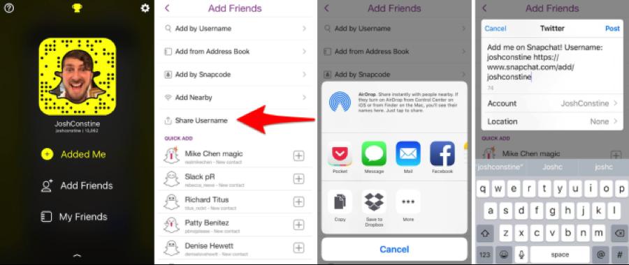 share-snapchat-username