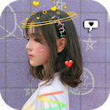 Live face sticker sweet camera icon