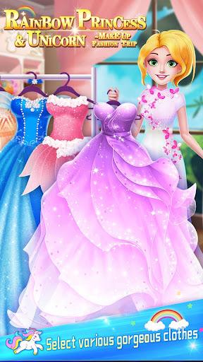 ud83dudc78Rainbow Princess & Unicorn Makeup - Fashion Trip 1.5.5009 screenshots 2