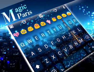 Magic Paris Emoji Keyboard screenshot 4