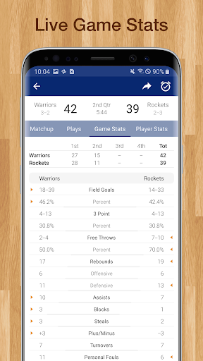 Basketball NBA Live Scores, Stats, & Schedules 9.0.8 screenshots 3