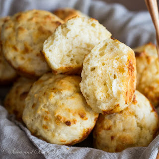 Dump n' Stir Cheesy Garlic Biscuits.