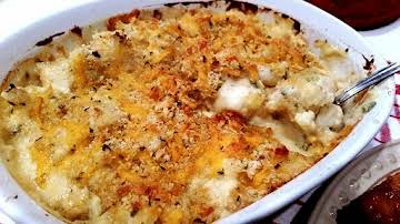 ~ Saucy Cheddar Broccoli & Cauliflower Bake ~