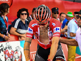 Nicolas Roche moest zijn rode leiderstrui in de Vuelta afstaan aan Miguen Angel Lopez