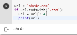 How do I remove a substring from the end of a string in