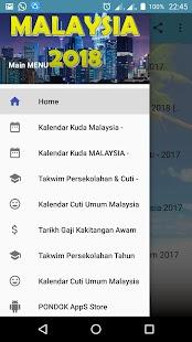 Kalendar Kuda 2018 - Malaysia (HD) - náhled
