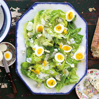 Butter Lettuce Salad with Ash-Cooked Eggs