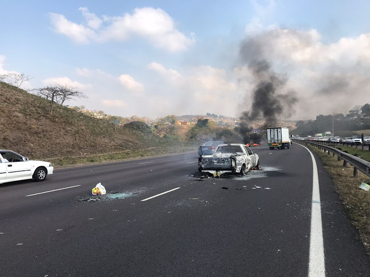 Protesters forced the closure of the busy N2 freeway in the south of Durban as part of violent demonstrations on July 26 2018
