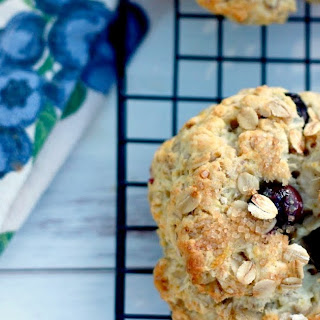 Healthy Blueberry Oat Scones