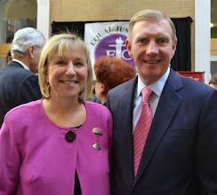 Photo: Senator Karen Spilka and BBA President Paul Dacier.