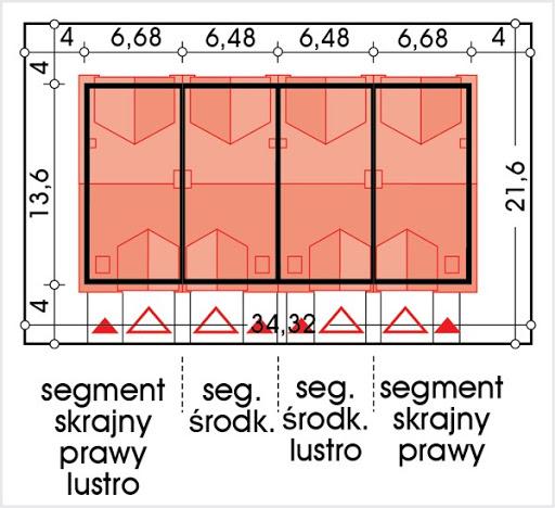 Hubert 2 zestaw 4 segmentów PL+S+SL+P - Sytuacja