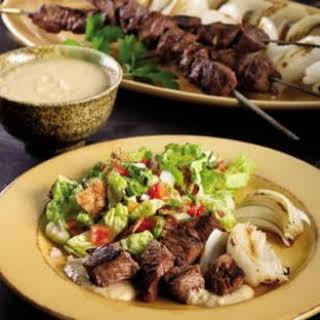 Shish Kebab with Tahini Sauce.