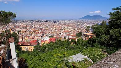Photo: Napoli with Vesuvius in the background