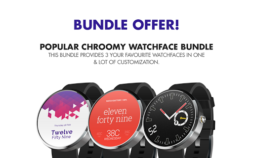 PopulrChroomy WatchFace Bundle