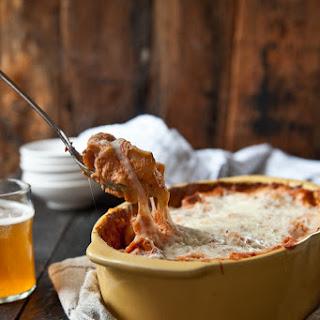 Baked Rigatoni Pasta in Beer Tomato Cream Sauce