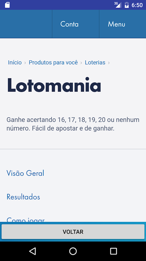 Surpresinha Lotomania- screenshot