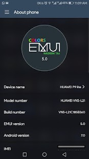Colors Dark theme for Huawei - náhled