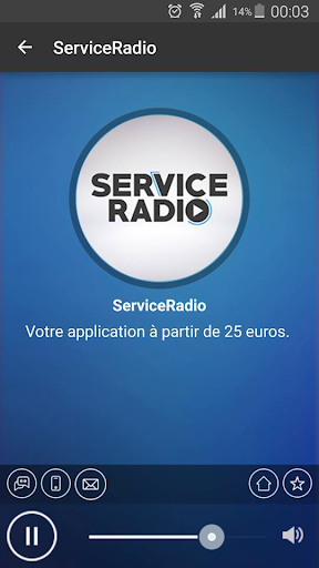 ServiceRadio Application Démo
