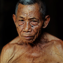 A Man by Erwin Rizaldi - People Portraits of Men ( strong, mature, old, man, portrait )