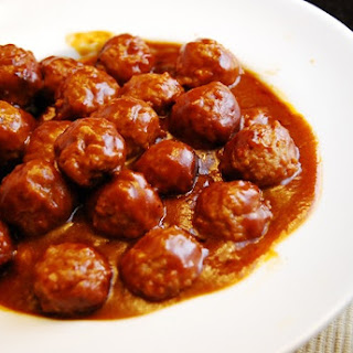 Hot and Sweet Meatballs.