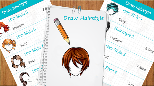 Learn to draw hairstyles - Learn to draw Hair screenshots 1