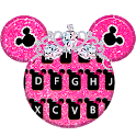 Pink Diamond Mouse Keyboard icon