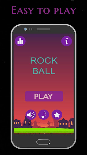 Rock Ball: Fall Down Ball Hop Tap Jumper screenshot 1