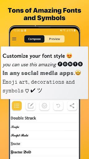 Font Changer - Cool Fonts Keyboard, Stylish Text 6.1 screenshots 1