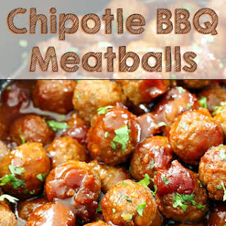 Slow Cooker Chipotle BBQ Meatballs.