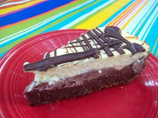 Chocolate Glazed Triple Layer Cheesecake Recipe
