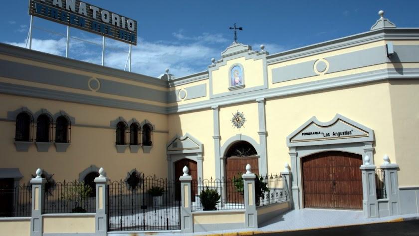 Fachada del tanatorio Virgen del Río de Huércal-Overa.