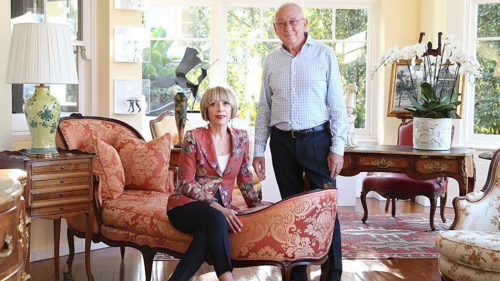 Michele Bender and Stephen Johns at their Bellevue Hill home. Picture: Danny Aarons