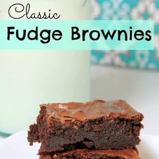 Classic Fudge Brownies.